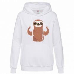 Женская толстовка Sloth Yogi