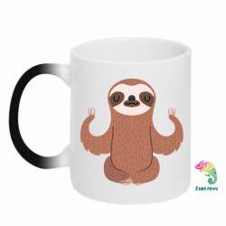 Кружка-хамелеон Sloth Yogi