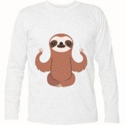 Футболка с длинным рукавом Sloth Yogi
