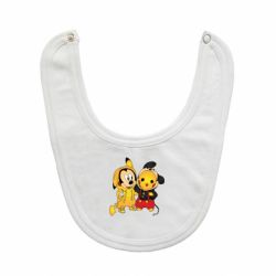 Слюнявчик  Mickey and Pikachu
