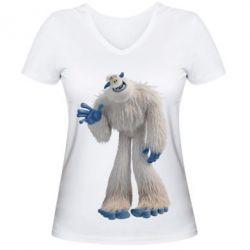 Жіноча футболка з V-подібним вирізом Smallfoot Migo