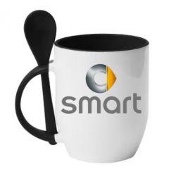 Кружка з керамічною ложкою Smart 2