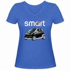Женская футболка с V-образным вырезом Smart 450 - FatLine
