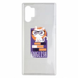 Чехол для Samsung Note 10 Plus Smart cat with glasses