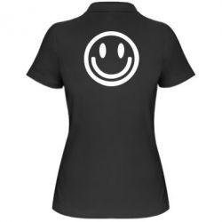 Женская футболка поло Смайлик - FatLine