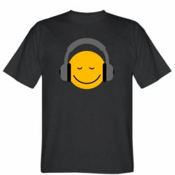 Мужская футболка Smile in the headphones