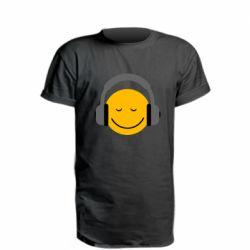 Удлиненная футболка Smile in the headphones