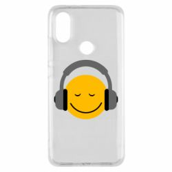 Чехол для Xiaomi Mi A2 Smile in the headphones