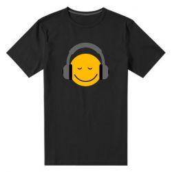 Мужская стрейчевая футболка Smile in the headphones