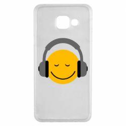 Чехол для Samsung A3 2016 Smile in the headphones