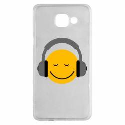 Чехол для Samsung A5 2016 Smile in the headphones