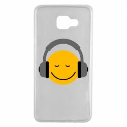 Чехол для Samsung A7 2016 Smile in the headphones