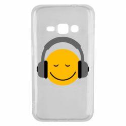 Чехол для Samsung J1 2016 Smile in the headphones