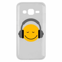 Чехол для Samsung J2 2015 Smile in the headphones