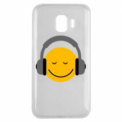 Чехол для Samsung J2 2018 Smile in the headphones