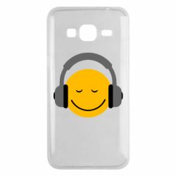 Чехол для Samsung J3 2016 Smile in the headphones
