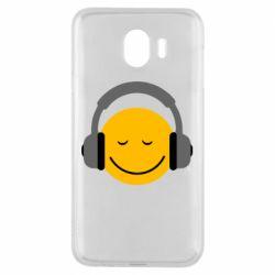 Чехол для Samsung J4 Smile in the headphones