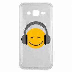 Чехол для Samsung J5 2015 Smile in the headphones