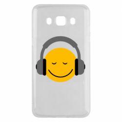 Чехол для Samsung J5 2016 Smile in the headphones