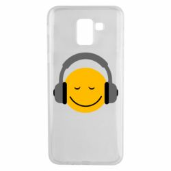 Чехол для Samsung J6 Smile in the headphones