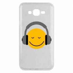 Чехол для Samsung J7 2015 Smile in the headphones
