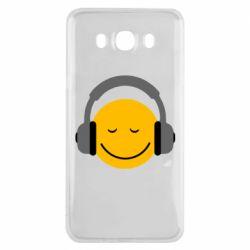 Чехол для Samsung J7 2016 Smile in the headphones