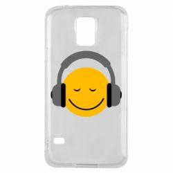 Чехол для Samsung S5 Smile in the headphones