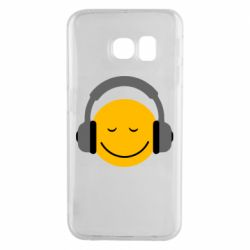 Чехол для Samsung S6 EDGE Smile in the headphones