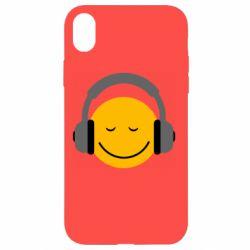 Чехол для iPhone XR Smile in the headphones