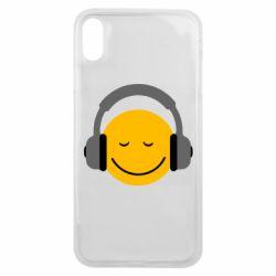 Чехол для iPhone Xs Max Smile in the headphones