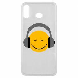 Чехол для Samsung A6s Smile in the headphones