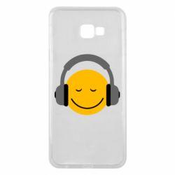 Чехол для Samsung J4 Plus 2018 Smile in the headphones