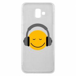 Чехол для Samsung J6 Plus 2018 Smile in the headphones