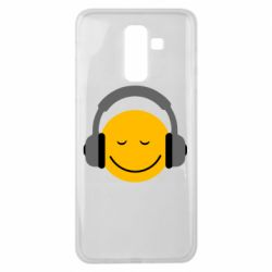 Чехол для Samsung J8 2018 Smile in the headphones