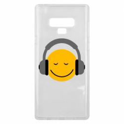 Чехол для Samsung Note 9 Smile in the headphones