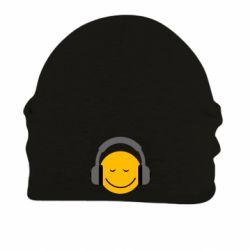 Шапка на флисе Smile in the headphones
