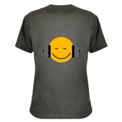 Камуфляжная футболка Smile in the headphones