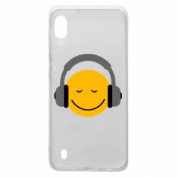 Чехол для Samsung A10 Smile in the headphones