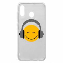 Чехол для Samsung A30 Smile in the headphones