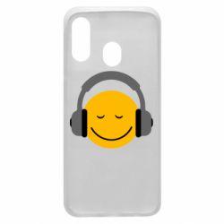 Чехол для Samsung A40 Smile in the headphones