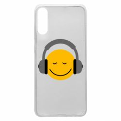 Чехол для Samsung A70 Smile in the headphones