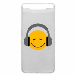 Чехол для Samsung A80 Smile in the headphones