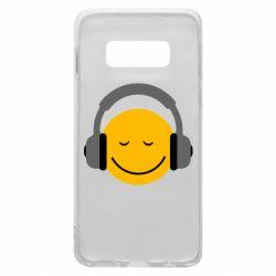 Чехол для Samsung S10e Smile in the headphones