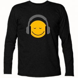 Футболка с длинным рукавом Smile in the headphones