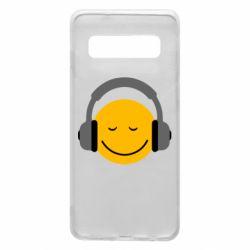 Чехол для Samsung S10 Smile in the headphones