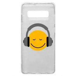 Чехол для Samsung S10+ Smile in the headphones