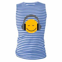 Майка-тельняшка Smile in the headphones