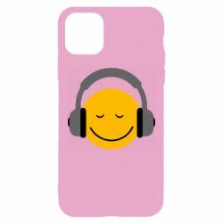 Чехол для iPhone 11 Pro Max Smile in the headphones