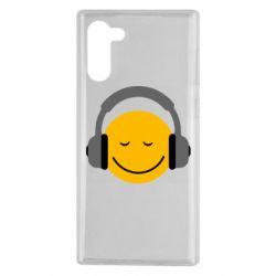 Чехол для Samsung Note 10 Smile in the headphones