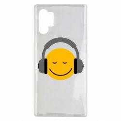 Чехол для Samsung Note 10 Plus Smile in the headphones